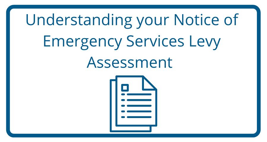 Link to Understanding your Notice of Emergency Services Levy Assessment